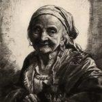 O bătrână/ Liniștită învârte într-un ceaun/  Uitat/  De secole ca moștenire.